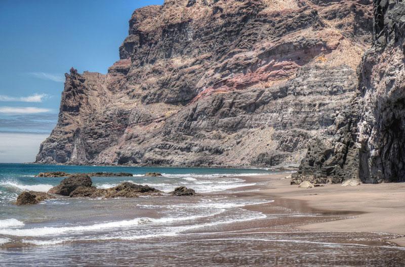 Durchgang von Guigui Grande nach Gui Gui Chico bei Ebbe mit Sand.