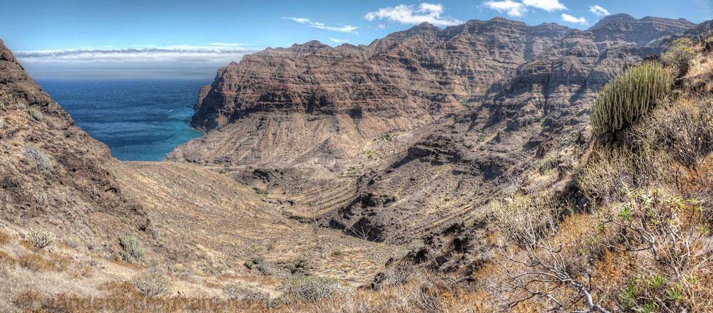 Tal von Güi Güi mit den Klippen im Westen von Gran Canaria