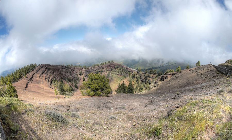 Vulkankrater Pinos de Galdar im Norden von Gran Canaria