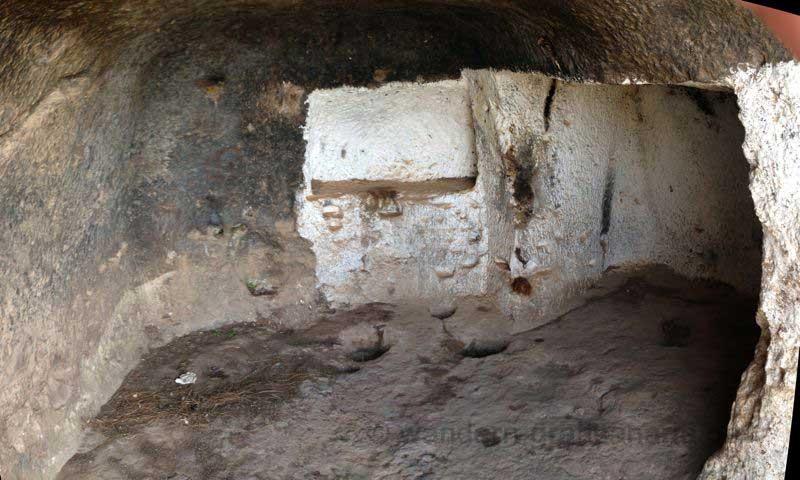 Höhle der archäologischen Fundstelle Cuevas de Caballeros, Gran Canaria