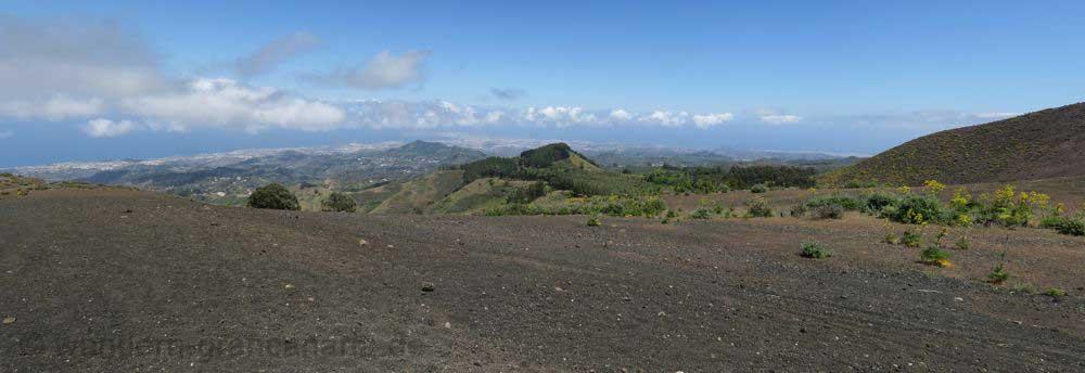 Vulkanlandschaft beim Montañon Negro und Pinos de Galdar auf einer Wanderung