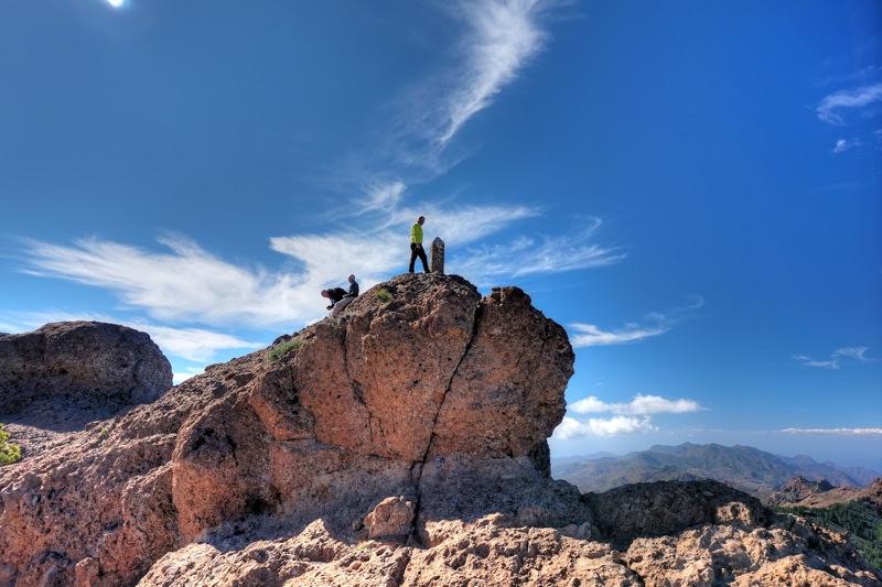 Gipfel des Campanario, dem zweithöchsten Berg von Gran Canaria