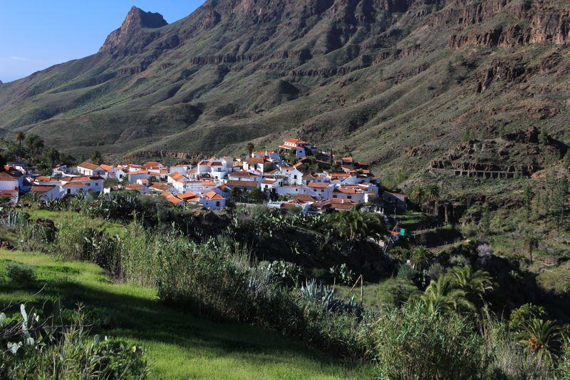 Fataga, im Süden von Gran Canaria im Winter