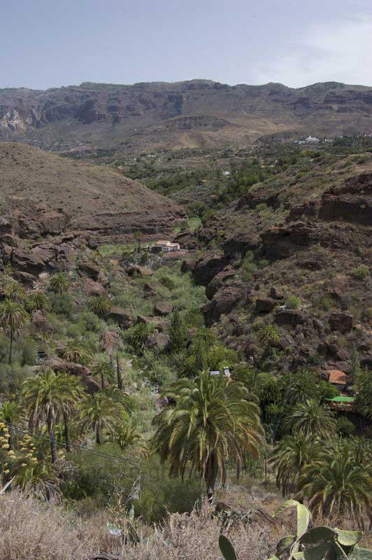 Das Tal von Tirajana mit Santa Lucia und den höchsten Bergen von Gran Canaria im Hintergrund