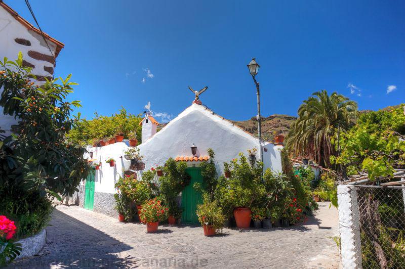 Kleines Gebäude in typisch kanarischer Architektur bei Santa Lucia