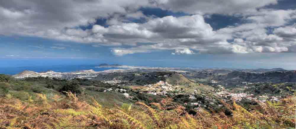 Ausblick über den Nordosten von Gran Canaria oberhalb von Teror