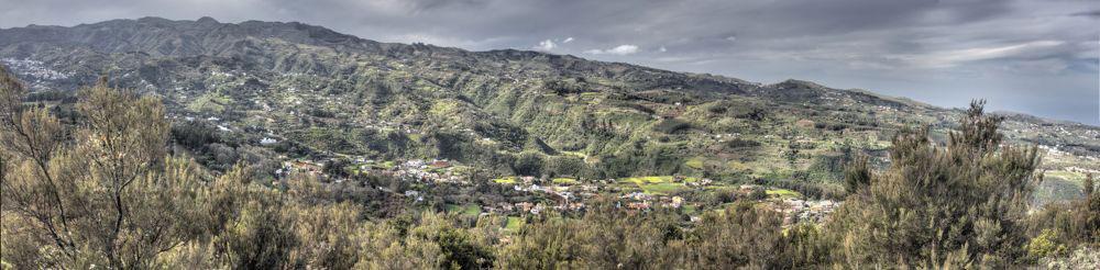 Panoramafoto vom Osorio ins Inselinnere von Gran Canaria zu den höchsten Bergen Moriscos und Montañon Negro