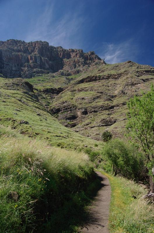 Wanderweg im Tal von Agaete