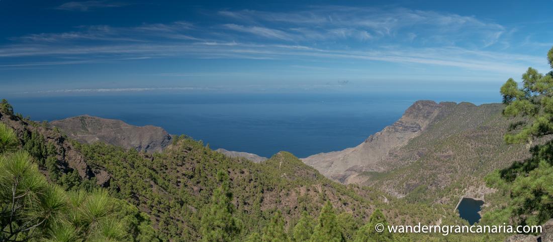 Blick nach Nordwesten und das Tal von El Risco