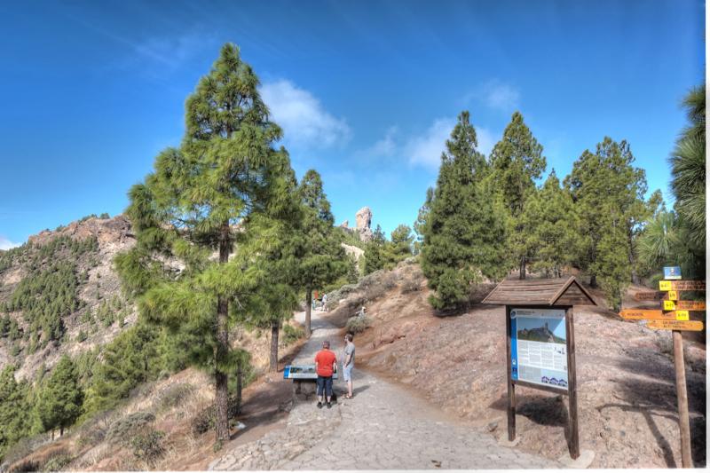 Start der Wanderung zum Roque Nublo bei der Degollada de La Goleta