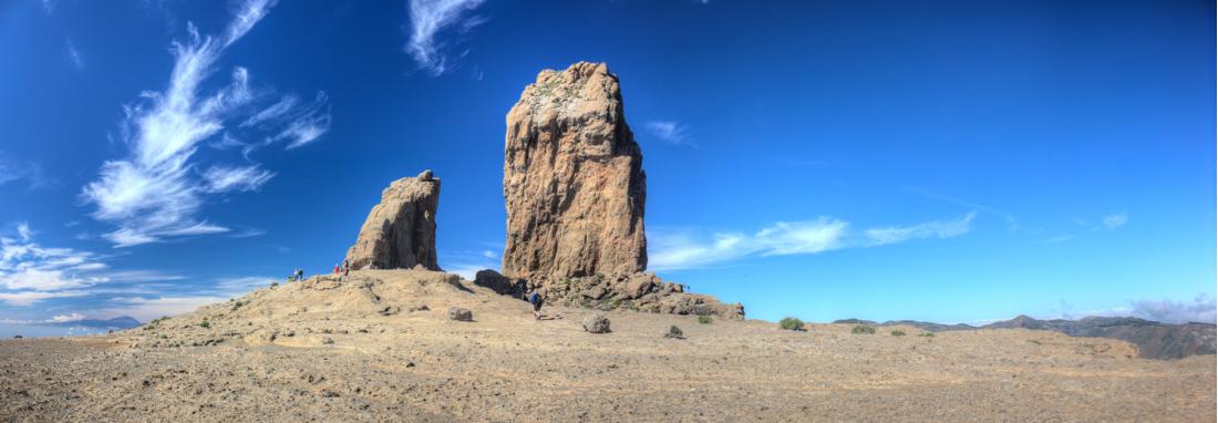 Ziel der Wanderung, Roque Nublo und Frosch