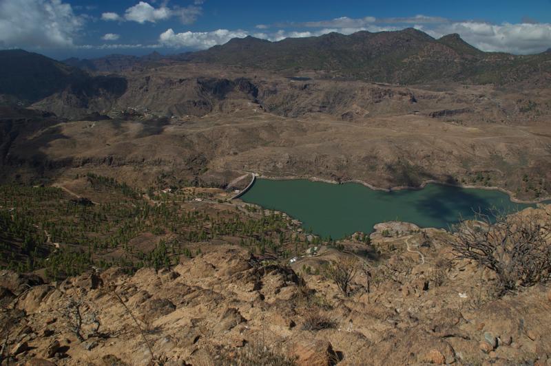Chira Stausee, Ausblick vom höchsten Punkt der Wanderung