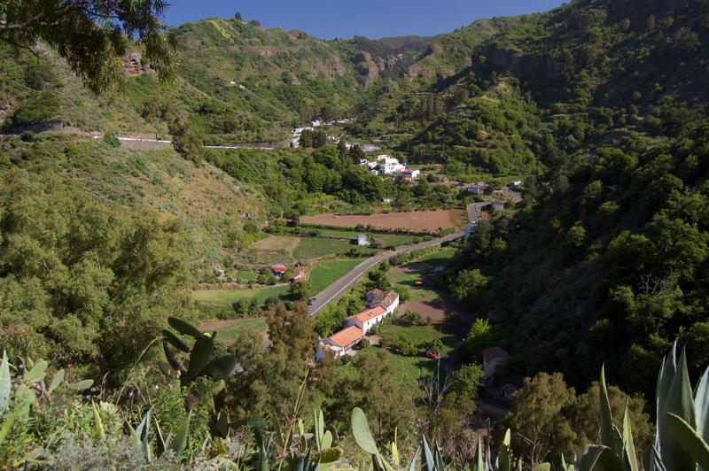 Der Ort Valsendero um Tal Barranco de la Virgen