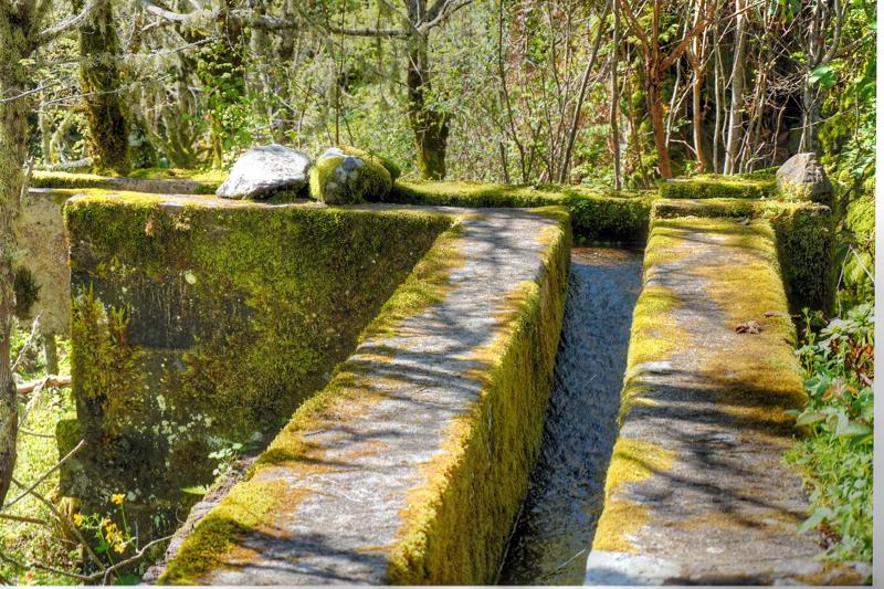 Offene Wasserleitung, Acequia, Gran Canaria Norden