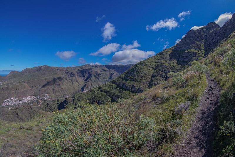 Schmaler Wanderweg vom Tamadaba zum Puerto de las nieves, Gran Canaria Nordwesten