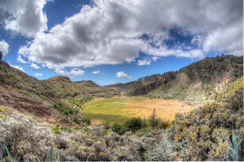 Vulkankrater Caldera de los Marteles, Gran Canaria Osten