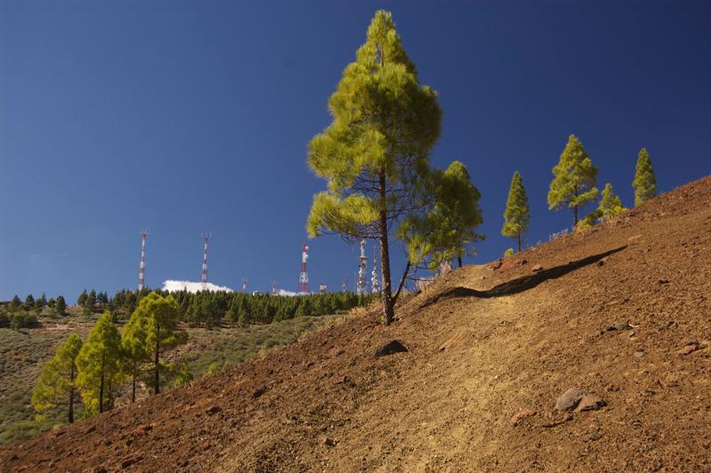 Aufstieg am Vulkanhang, Gran Canaria