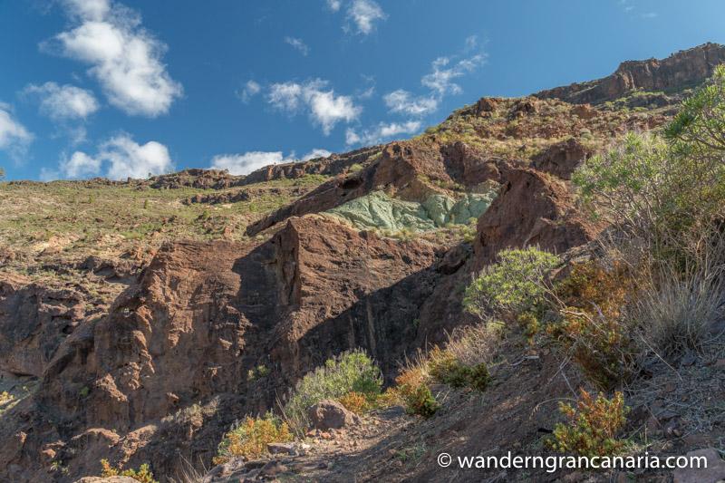 Wanderwege und grüne Felsbänder, Rundwanderung Los Azulejos