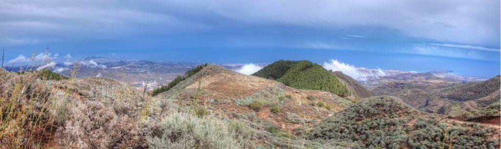 Ausblick auf die Ostküste von Gran Canaria von Las Palmas bis zum Flughafen der Insel.